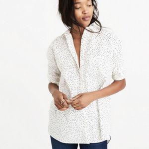 Madewell | Oversized ExBoyfriend Shirt Dot Scatter
